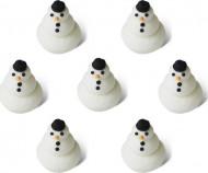 7 Petits bonhommes de neige en sucre 1,5 cm Noël