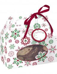 Boite à bonbons Flocons Noël
