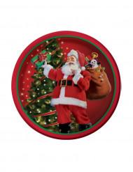 8 Petites Assiettes Cadeaux du Père Noël 18 cm