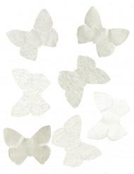 50 Papillons organza ivoire 10 x 8 cm