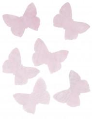 50 Papillons en organsa rose