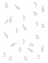 24 Notes de musique en bois blanc