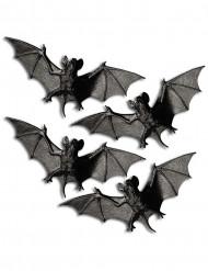 4 Chauves-souris 11 cm halloween
