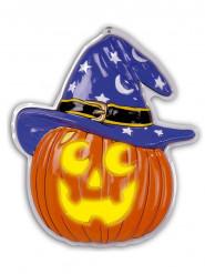 Décoration citrouille avec chapeau 45 x 52 cm Halloween