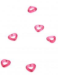 Confettis de table Coeur Fuchsia
