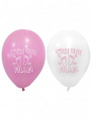 8 Ballons imprimés C'est une Fille