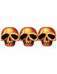 Guirlande papier têtes de mort Halloween 3 mètres