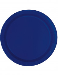 8 Assiettes en carton Bleu marine 23 cm