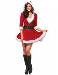 Déguisement robe courte Mère Noël femme