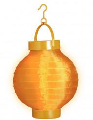 Lanterne lumineuse orange 15 cm
