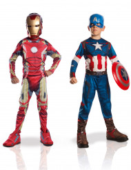 Pack déguisements enfant Iron Man + Captain America - Avengers 2™ Coffret