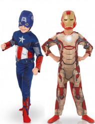 Pack déguisements enfant Captain America™ & Iron Man™ - Avengers™ Coffret