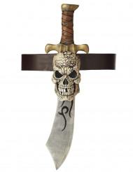 Épée Pirate en plastique avec gaine crâne