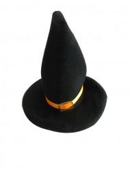 2 Décorations petits chapeaux de sorcière ruban orange