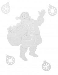 Décoration Père Noël pour fenêtre