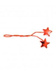 4 Ronds de serviette étoile rouge