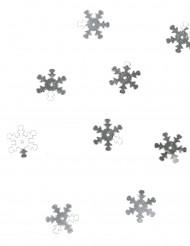 Confettis de table flocons de neige argent 10 grammes