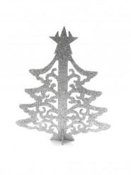 Arbre de Noël marque-place argenté
