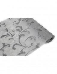 Rouleau intissé arabesque gris