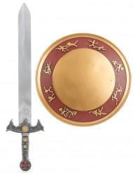 Kit Gladiateur épée et bouclier en plastique pour Enfant