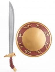 Kit bouclier et épée gladiateur en plastique pour Enfant