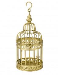 Petite cage à oiseaux décorative dorée 21 cm