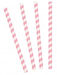 10 Pailles à milkshake roses