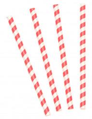 10 Pailles à milkshake rouges