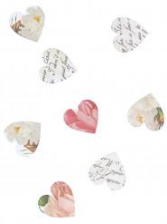 Confettis coeurs en papier
