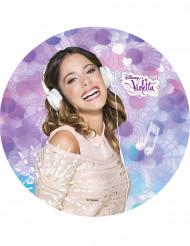 Disque en sucre Violetta™ 21 cm
