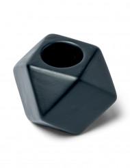 Bougeoir octogonal noir mat 5 cm