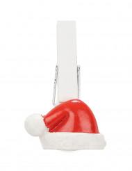 6 Pinces Bonnet de Noël
