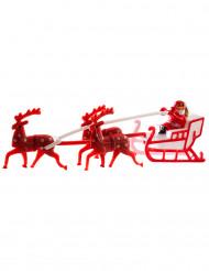 Figurine Père Noël avec traîneau 14 cm