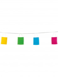 Guirlande 8 lampions en papier coloré