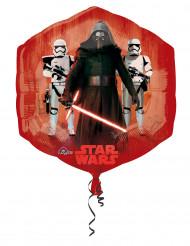 Ballon en aluminium rouge et bleu Star Wars VII™ 55 x 58 cm