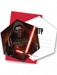 6 Cartes d'invitation avec enveloppes Star Wars VII™