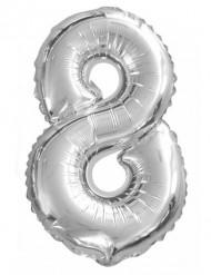 Ballon aluminium chiffre 8 35 cm