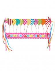 Décoration pour gâteau joyeux anniversaire rose