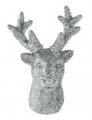 2 Petites figurines rennes argentés