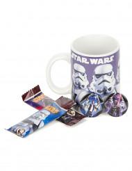 Grande tasse avec barres chocolatées et badges Star Wars™