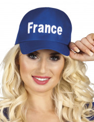 Casquette bleu supporter France adulte