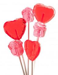 Bouquet de 6 sucettes Saint Valentin