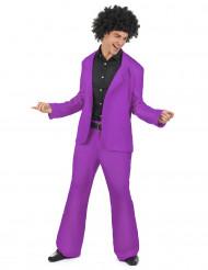 Déguisement disco violet adulte