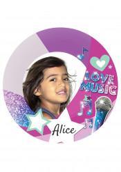 Disque en sucre personnalisable Love Music 20 cm