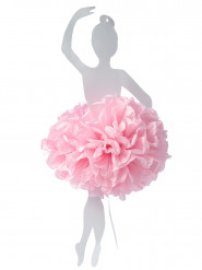 Ballerine pompon rose à suspendre 50 cm