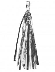 6 Pompons tassel argentés