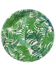 12 Assiettes en carton Tropical Jungle 23 cm