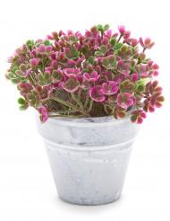 Petit pot fleurs artificielles fuchsia