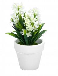Petite plante fleurs artificielles blanches