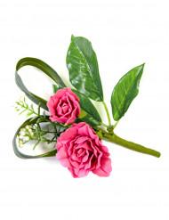 Deco de table fleurs artificielles roses fuschia